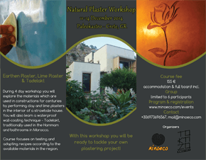 Natural Plasters-Tadelakt Workshop poster