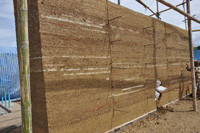 The rammed earth technique