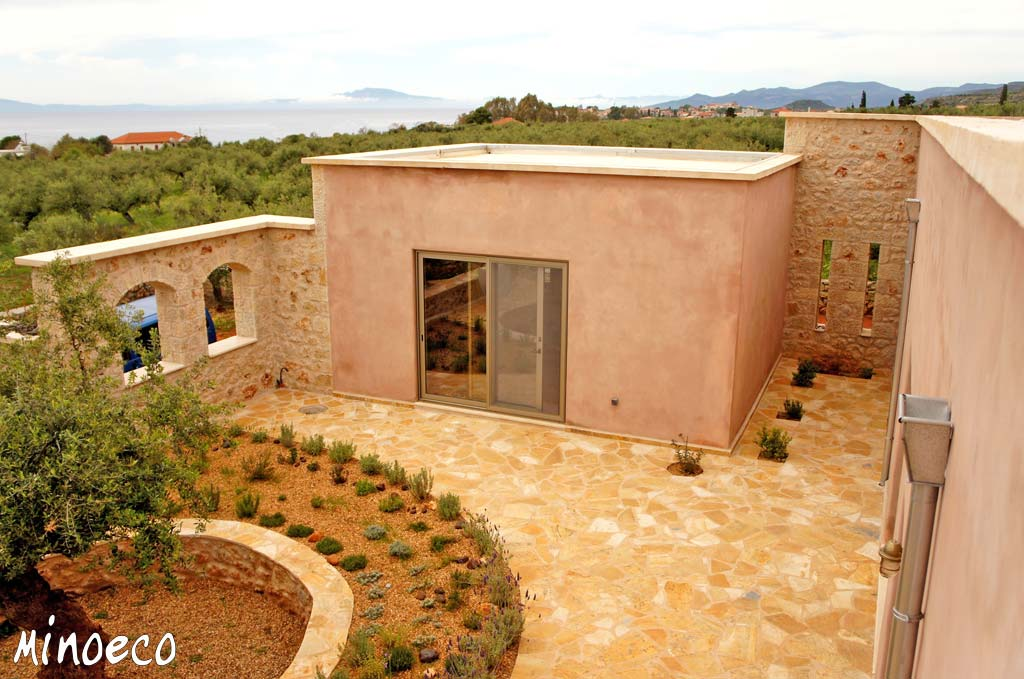 Stone/Brick house, lime, clay & tadelakt plasters - Mani, Greece