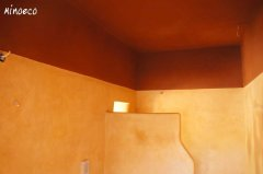 Bathroom, clay plaster and tadelakt.