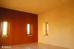 Yoga room, clay plaster.