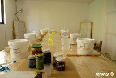 Minoeco Τάντελακτ - Επίχρισμα με βάση τον ασβέστη, σχεδιασμένο για την εφαρμογή τάντελακτ. 100% Ελληνικά συστατικά.